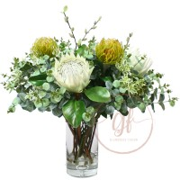 72CM PROTEA GUM ARRG IN GLASS