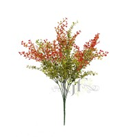 52CM MINI LEAVES BUSH X 9