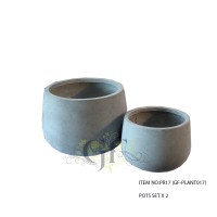 LIGHT WEIGHT POTS SET X 2