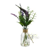 34CM LAVENDER IN GLASS W/WATER