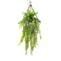 105CM HANGING GREENERY IN TRIANGULAR FRAME